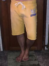 Vintage ABERCROMBIE & FITCH YELLOW ATHLETIC SHORT SIZE MEDIUM
