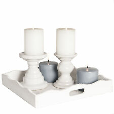 Deko-Kerzenleuchter im Shabby-Stil aus Keramik