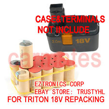 Battery Rebuild Pack For TRITON 18V TDA150 PLUNGE DRILL 3.0Ah Ni-MH C1820A002
