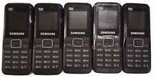 5 Lot Samsung Gt-E1075L Gsm Locked Cellular Cell Phone Bluetooth Black Used