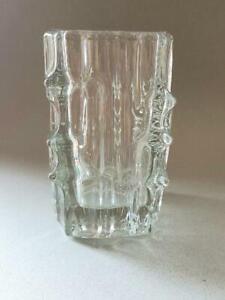 RETRO SKLO UNION ROSICE VLADISLAV URBAN GLASS CANDLE HOLDER/VASE PATTERN 617