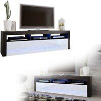 TV Board Lowboard Unterschrank Sideboard Weiß  schwarz Hochglanz 160cm