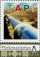 Turkmenistan 2017, Personalized stamp, Gas, Industry, TAPI, 1v