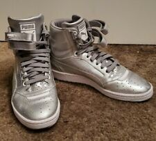 Puma Sky Ii High Holographic (Big Kid)6.5C silver sneakers