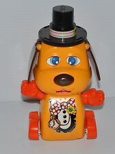 vintage TOMY DOG moving Part TOY 1980s Push Button Toy  - rj