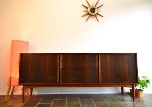 Mid Century Modern Kolter Walnut Sideboard Buffet Cabinet RETRO Danish Style