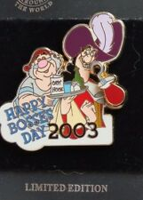 DISNEY DLR HAPPY BOSSES DAY 2003 CAPTAIN HOOK & SMEE FROM PETER PAN LE 1500 PIN
