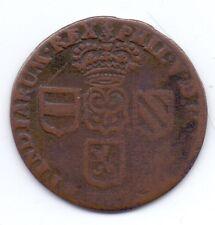 1710 Phillip V de España Namur Liard cobre español Holanda Km 12