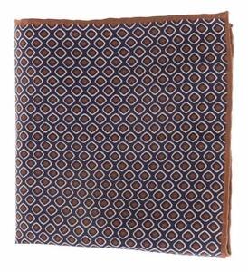 BRUNELLO CUCINELLI Pocket Square Handkerchief Silk Blend Made in Italy
