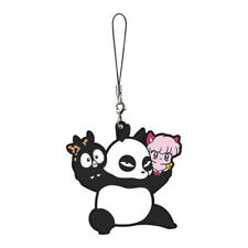 Ranma 1/2 P-chan, Genma and Shampoo Rubber Cell Phone Strap NEW