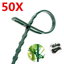 50Pcs Reusable Garden Plastic Plant Cable Ties Adjustable Tree Climbing Support