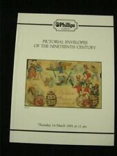 PHILLIPS AUCTION CATALOGUE 1991 PICTORIAL ENVELOPES OF THE NINETEENTH CENTURY