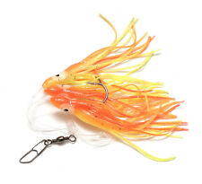 RON THOMPSON 2 HOOK OCTOPUS MUPPETS SEA BOAT FISHING RIG RED & YELLOW 10CM #5/0