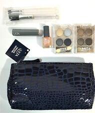 ULTA Cosmetic Bag True Blue Collection Shadow Lip Nail Polish Brushes