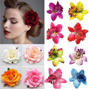 Fashion Rose Flower Hair Clips Peony Brooch Bridal Wedding Hairpins Accessories