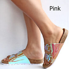 1b254d534 New Women Mermaid Unicorn Rainbow Mirror Sandals Slides Open Toe Slippers