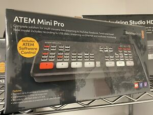 BlackMagic ATEM Mini PRO Live Production Switcher - Ships same day as order