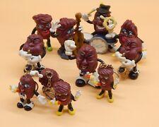 original 1980s vintage CALIFORNIA RAISINS pvc figure LOT guitar singers horns +!