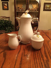 "Oscar De La Renta, ""Dresden Gold"" Tea Pot Set In Great Condition"
