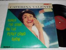 CATERINA VALENTE Songs I've Sung On the Perry Como Show '63 LONDON JAZZ LP EXC