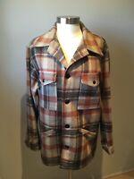 Vintage Pendleton Wool 1960s Mackinaw Cruiser Plaid Jacket Size L
