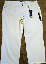 Womens Plus Size 24 TORRID Denim White Crop Capri Stretch Jegging Jeans NEW