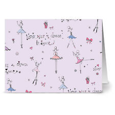 24 Note Cards - Never Miss a Chance to Dance - Plum Purple Envs
