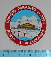 ADESIVO STICKER VINTAGE AUTOCOLLANT AUFKLEBER PASSO S. PELLEGRINO 8x8 cm