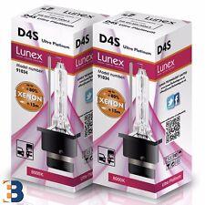 2 x D4S LUNEX XENON Headlight Bulbs 35W Original 8000K Ultra Platinum P32d-5