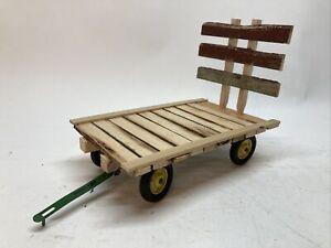 Custom 1/16 Wooden Hay Wagon Flat John Deere IH Oliver Farm Toy Tru Scale