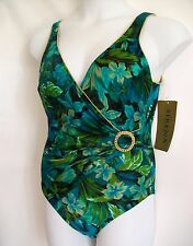 Sirena Swimsuit Womens Small Sarong Bathing Suit Vintage NWT