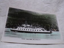 "NELSON British Columbia Canada Ferry Ship ""Anscomb"" colorized RPPC postcard"