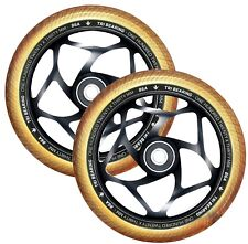 ENVY Scooters - 120mm/30mm TRI BEARING WHEEL PAIR - Black/Gold