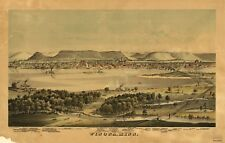 A4 Reprint of American Cities Towns States Map Winona Minnesota