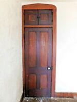 Antique 1880's Built-In CABINET Closet DOOR and Door Trim VICTORIAN Style ORNATE