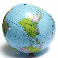 Inflatable Globe 40cm Blow up Ball World Map Atlas Earth Geography School Party