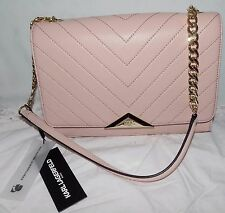 NEW NWT KARL LAGERFELD PARIS GIGI BLUSH QUILTED LEATHER SHOULDER BAG PURSE