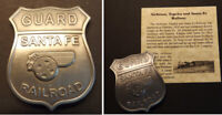 Atchison, Topeka and Santa Fe Railway Guard Badge, railroad