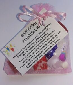 Non Personalised - HANGOVER Survival Kit Hen Stag Bride 18th 21st 40th Birthday