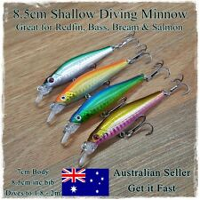 4 Salmon Fishing Lures, Bream, Tailor, Flathead, Mackerel, Bass, Redfin, Perch