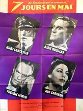 Affiche 120x160cm 7 JOURS EN MAI /SEVEN DAYS IN MAY 1964 Lancaster, Kirk Douglas