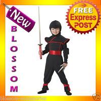 CK82 Stealth Ninja Toddler Boys Halloween Fancy Dress Costume Outfit