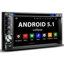 AUTORADIO MIT ANDROID 5.1 NAVIGATION NAVI GPS BLUETOOTH DVD CD USB DAB+ 2DIN NEU