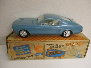 AMF Wen-Mac Wen-Mac Blue 1967 Mustang Fastback with Original Box