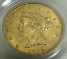 1852-P $2.50 Dollar Uncirculated Gold Quarter Eagle Certified PCGS MS 62
