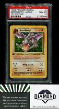 1999 Pokemon Fossil #1 Aerodactyl Holo 1st Edition PSA 10 Gem MINT