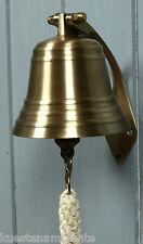 Maritime Deko Schiffsglocke Glocke Ø 10cm Wandhalterung Messing (8519)