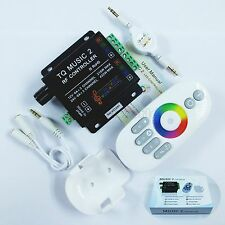 12-24V 18A 2CH RGB Music V2 led controller Sound/Audio control+RF Touch Remote W