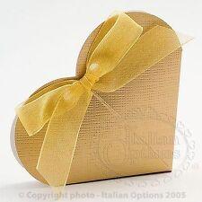 75 Lusso Oro con trama CUORE MATRIMONIO FAVORE scatole fai da te