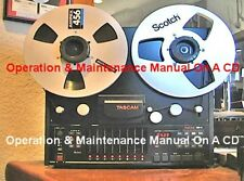 TASCAM TSR-8  OPERATION & MAINTENANCE  MANUALS ON  A CD